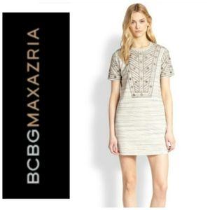 BCBG MaxAzaria  Ada Short Sleeve Knit Shif…
